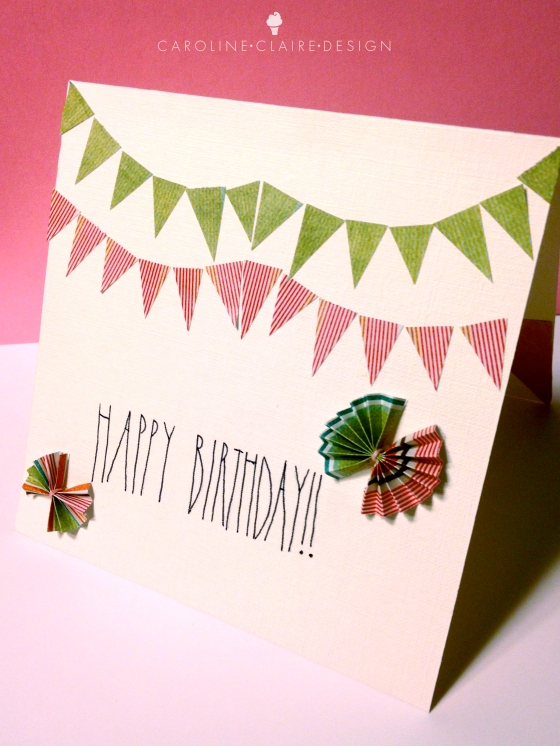 Then I glued the bows onto the card. And finished! : )