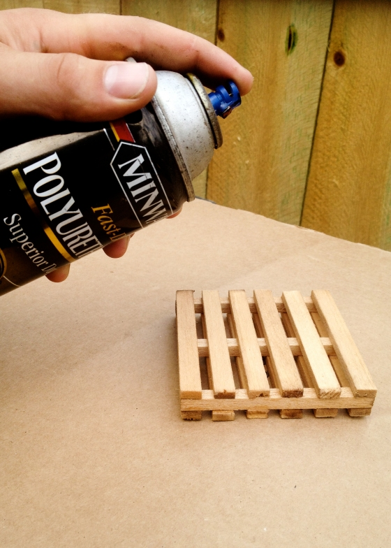 Balsa wood is very absorbent, which doesn't mix well with the purpose of a coaster, so you'll want to seal it with polyurethane.