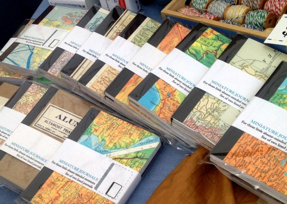 I think anything with maps is super cool, so naturally I was drawn to these mini-journals.